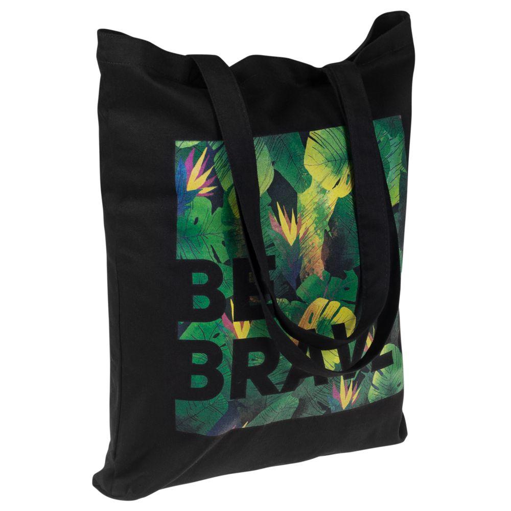 c8cc6dac0b56 Холщовая сумка «Будь храбрым!» с логотипом компании